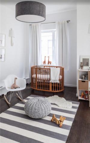 儿童房颜色灰白婴儿房