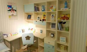 儿童学习桌书柜组合