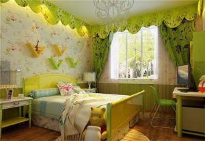 室内两个孩子儿童房设计