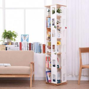 墙角旋转立式书柜