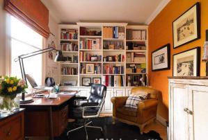 复古小书房书柜