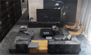 现代电视墙装修效果图大全