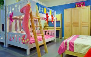 小户型三人房儿童房设计上下床