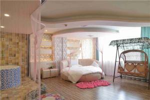 婚房圆形床卧室效果图