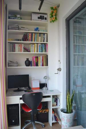 阳台书柜改造效果图