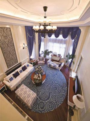 现代客厅沙发摆放效果图