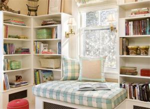 飘窗书柜设计