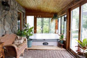 别墅美式风格阳台效果图榻榻米装饰