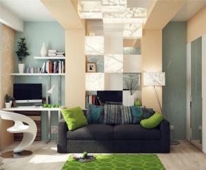客厅现代书房装修效果图
