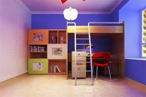 上下床带衣柜组合儿童房