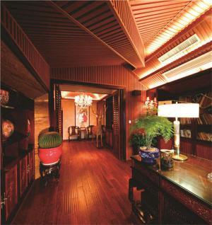 阁楼中式书房装修效果图