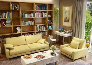 简约清新小户型客厅书柜