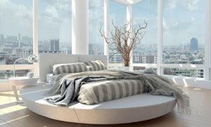 圆形床卧室效果图实拍