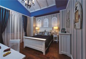 地中海装修卧室床