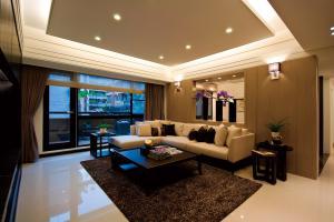 时尚长方形客厅家具