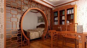 实木中式书柜