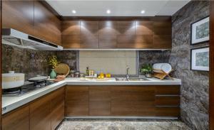 实木整体厨房