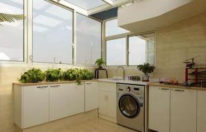 大改造阳台改厨房效果图