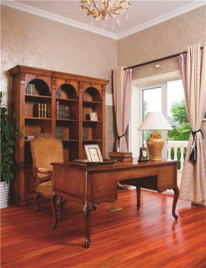 新古典风格书房布置效果图