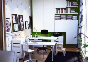 冷色调家庭书房装修效果图