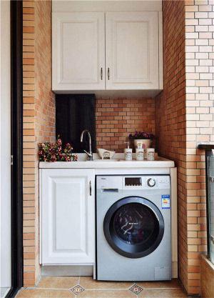 瓷砖洗衣机放阳台效果图