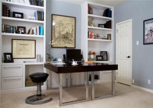 开放式小户型客厅书柜