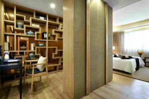 中式风格小书房书柜