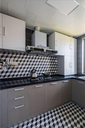 黑色台面简易厨柜