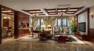 跃层小美式风格客厅