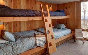 治愈系卧室二层床