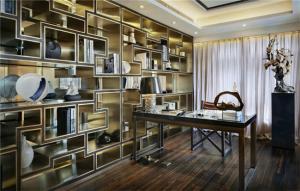 写字台组合书柜