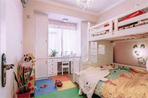 童真两个孩子儿童房设计