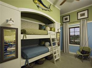 装修儿童房双层床效果图