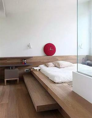 卧室地台床装修效果图实拍