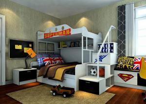 儿童房设计上下床效果图片