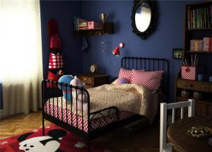 铁艺单人床美式儿童房