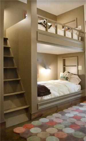好看的卧室上下床装修效果图