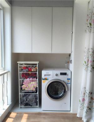 摆放洗衣机放阳台效果图