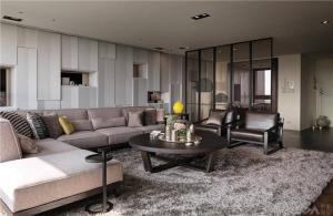 温馨客厅沙发摆放效果图