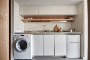 内嵌洗衣机卧室橱柜