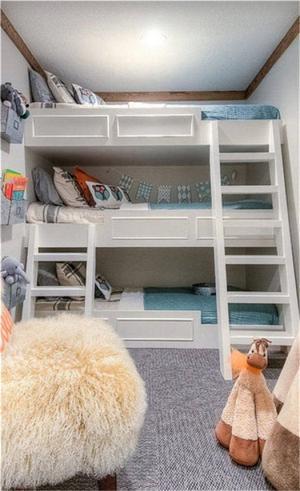 好看的最新儿童房设计上下床