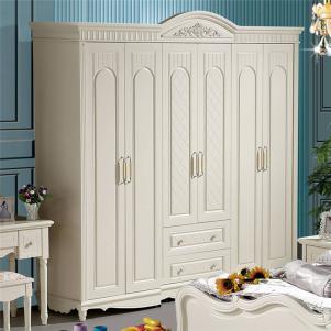欧式奢华象牙白衣柜