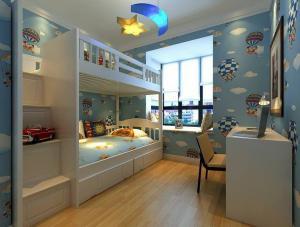 美丽星空儿童房设计上下床