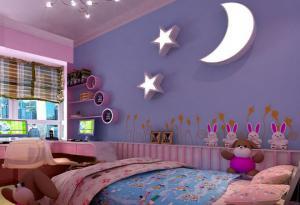 梦幻女孩儿童房颜色