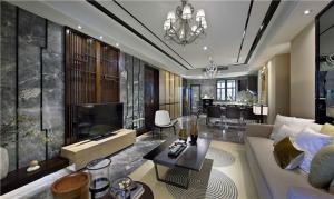 简中式客厅背景墙
