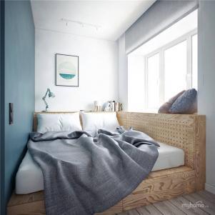 日式带飘窗的卧室装修
