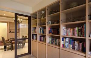 现代客厅书柜墙