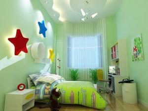 星星儿童房背景墙