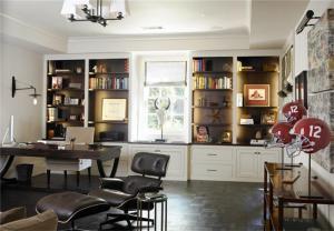 小户型欧式书桌书柜组合