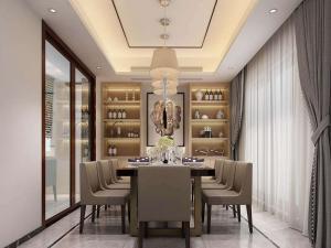 新中式风格餐厅酒柜